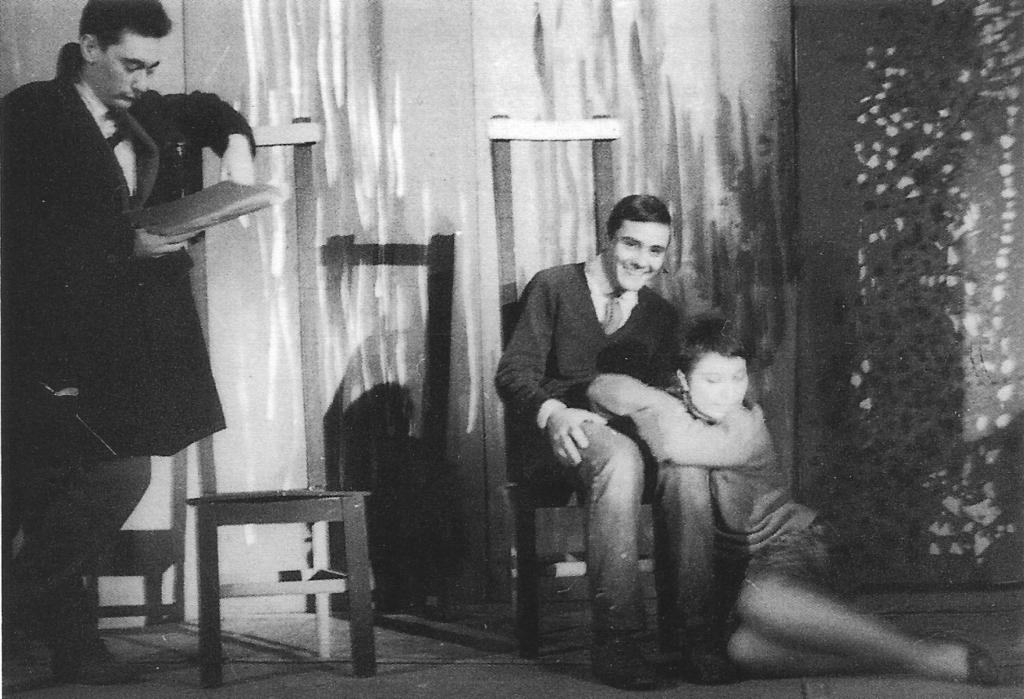 """Descanso en los ensayos de """"El otro"""" del TEP - Los Goliardos"""