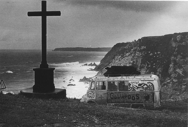 Furgoneta Los Goliardos Teatro independiente - Gira por Cataluña - 1969